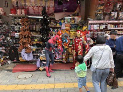 新宿ドンキでスパイダーマンとアイアンマンを発見