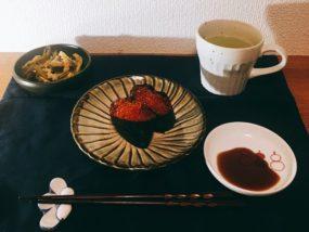 自宅でお寿司屋さん。締めの本日の一品は素敵なサプライズ