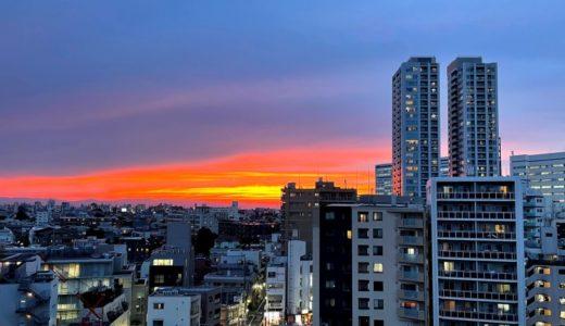 雑談:夕日の写真を撮ってみたらアルマゲドンみたいになった